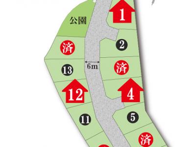 全15区画分譲地。モデルハウスは7棟ございます!