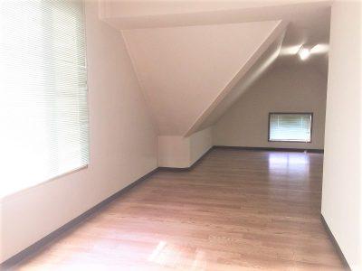 高さも結構ある小屋根裏収納スペース(内装)