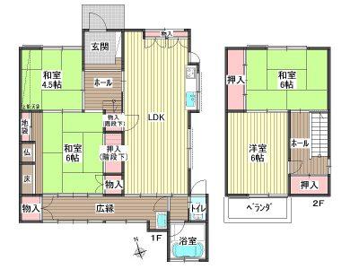 ●4LDK●各部屋とても広々としています!収納も豊富です。(間取)